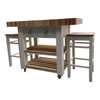 solid wood beech end grain butchers block island with solid wood base