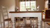 """Farmhouse table and chairs - colour  """"white tie"""""""