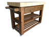Butchers block island - dark oak stained with optional towel rail