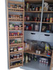 Kitchen corner larder  door hung storage
