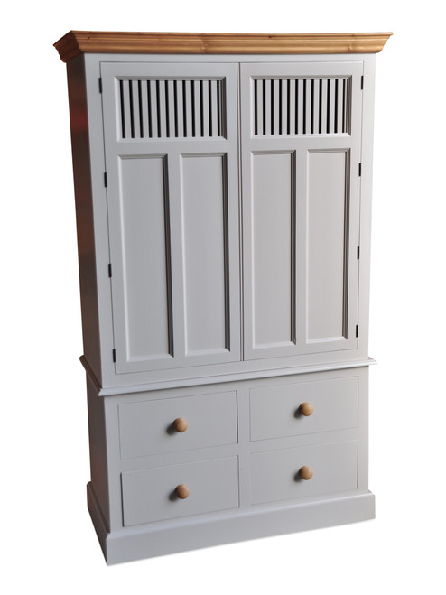 Larder Cupboard with vented doors and 4 drawers