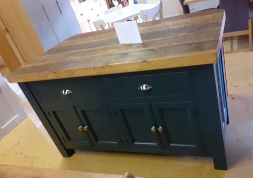 Kitchen Island reclaimed top
