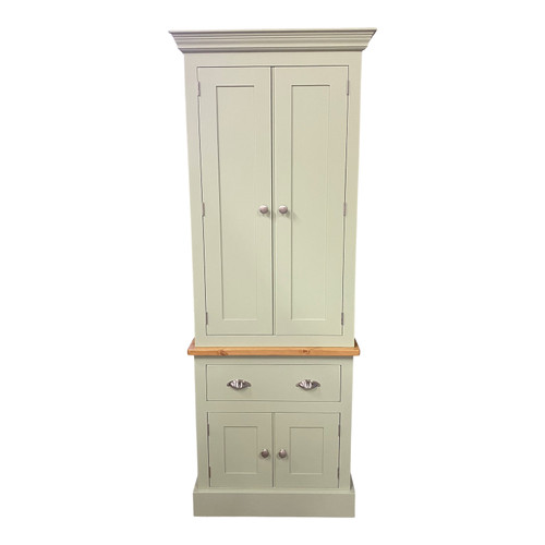Our gorgeous Hampton kitchen larder with double upper doors double lower doors and a drawer in the centre.