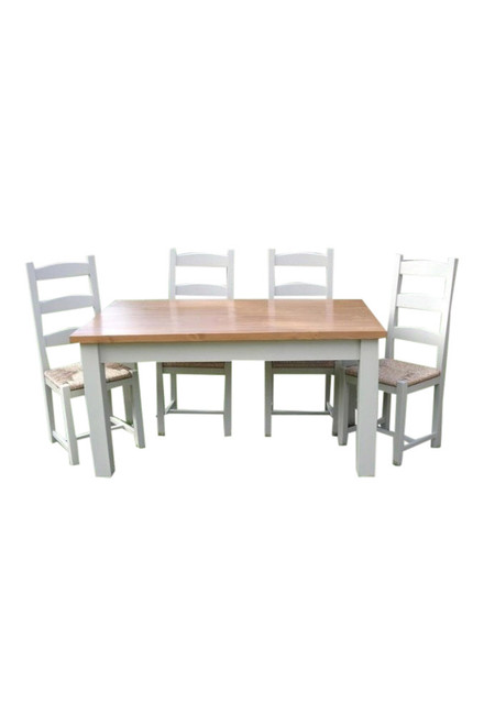 Farmhouse table available in several sizes with Waxed or lacquered tops