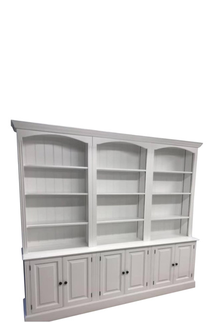 Somerton open bookcase dresser with lower cupboards