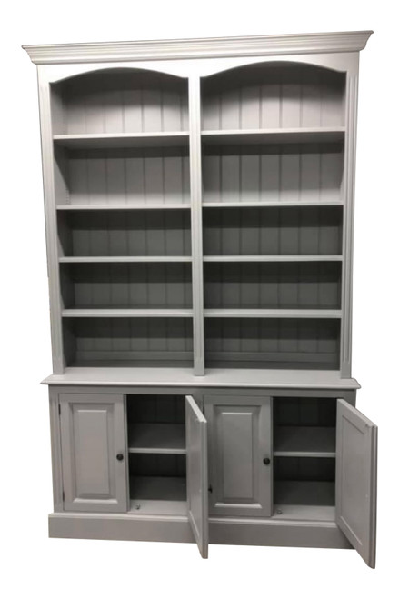 'Lavenham' open bookcase dresser with built in cupboards