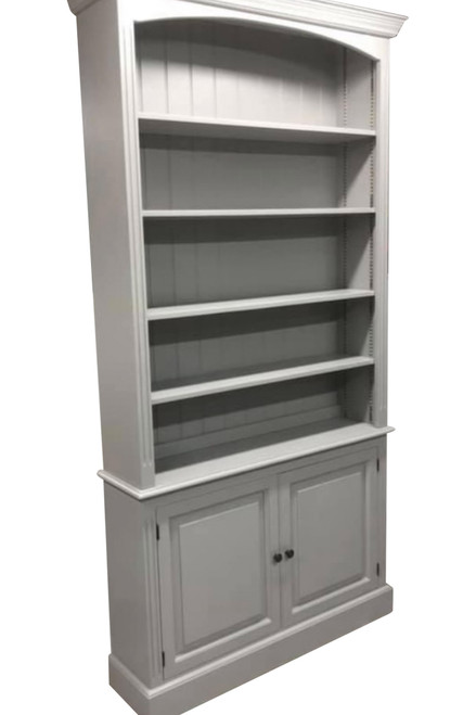 Dorset bookcase with large bottom cupboard