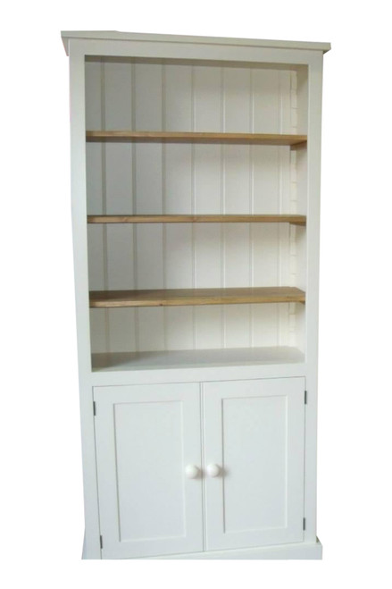 The Canterbury bookcase with the doors half way up