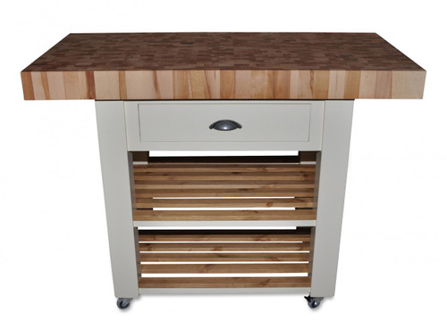 "End grain beech Island in ""white Tie"""