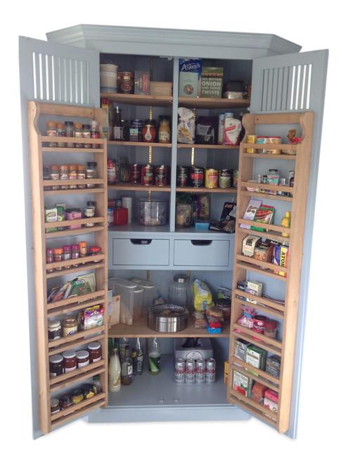 Kitchen corner larder / pantry - colour parma gray