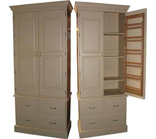 larder pantry provisions cupboard - door storage racks