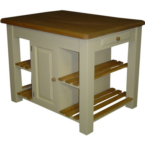 Solid wood Kitchen island - reclaimed wood top