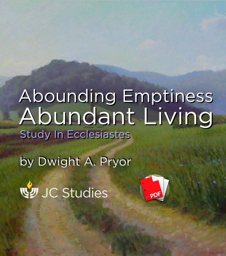 Abounding Emptiness, Abundant Living (Transcript)