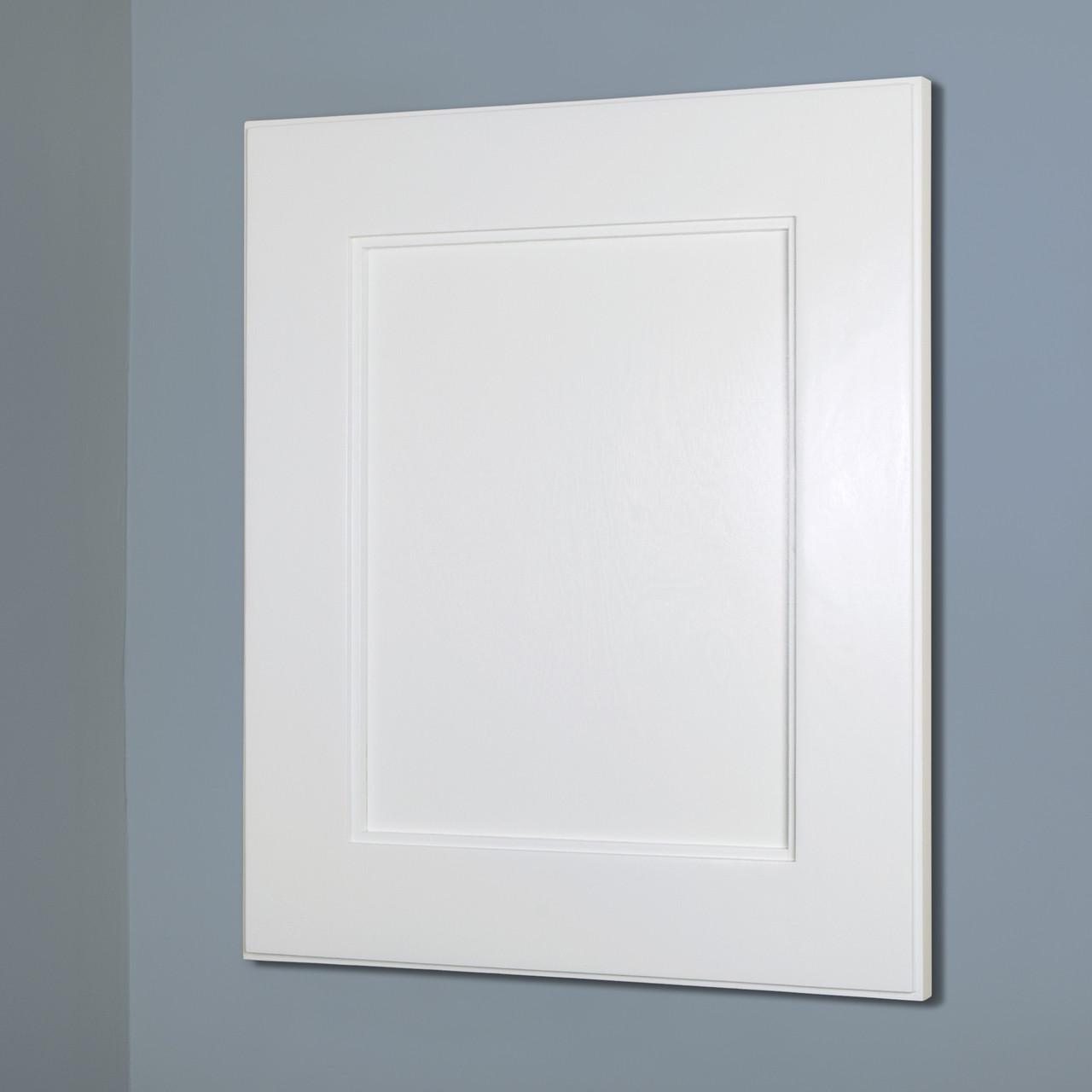 Superieur 14x18 White Shaker Recessed Frame Door Medicine Cabinet