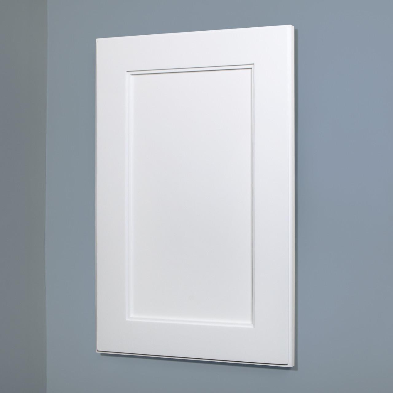 XL 14x24 White Wood Recessed Shaker Medicine Cabinet