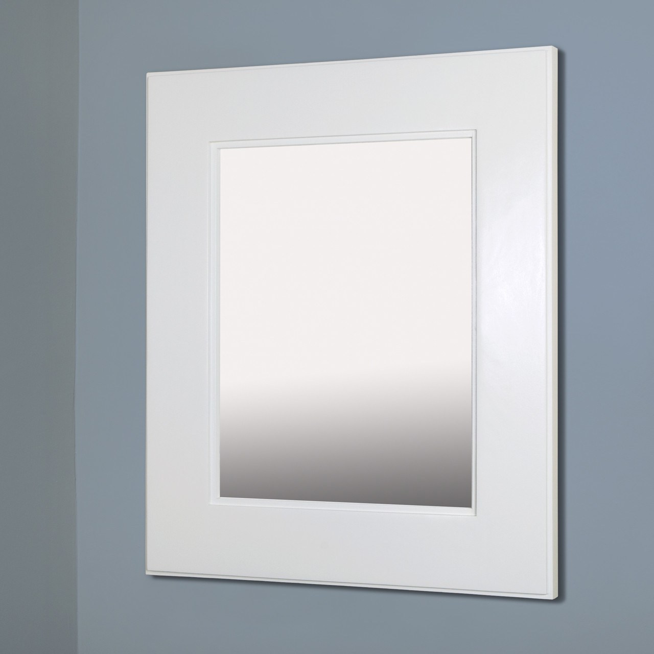 Large White Concealed Cabinet Recessed In Wall Medicine Cabinets