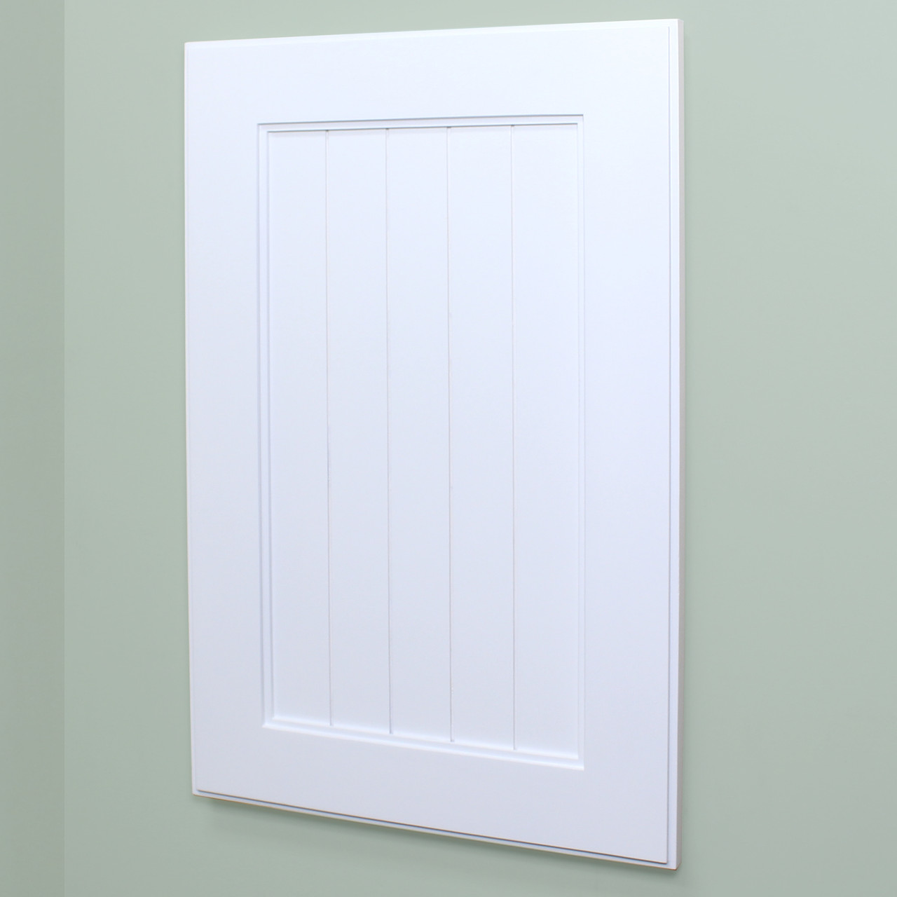 White Shaker Style Recessed Medicine Cabinet 14x24 Recessed In