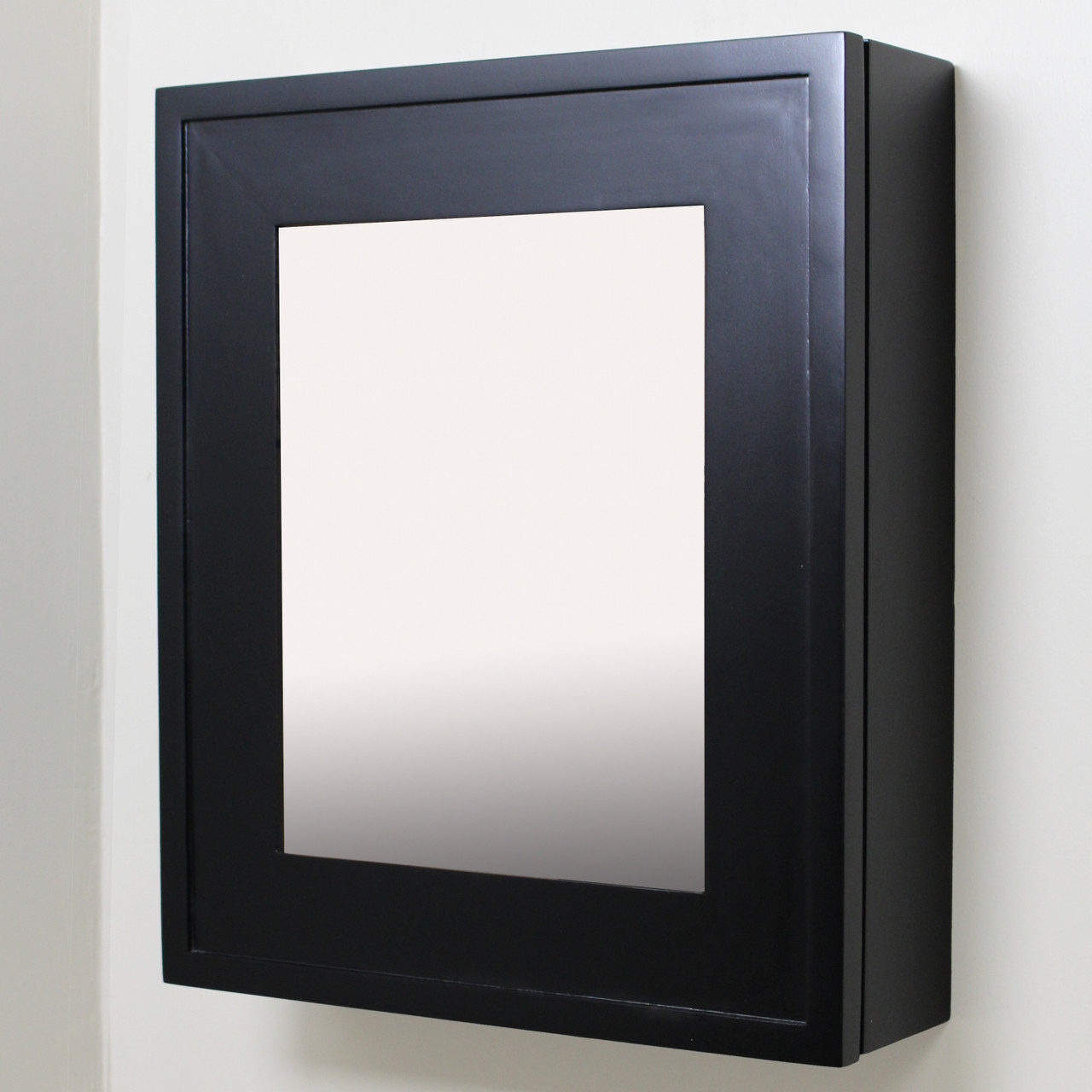 Picture of: Black Wall Mount Mirrored Medicine Cabinet