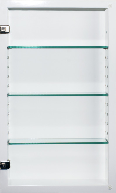 White Shaker Style Recessed Medicine Cabinet 14x24