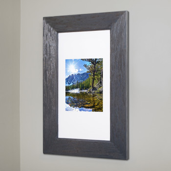 Extra Large Rustic Gray Concealed Cabinet Recessed In