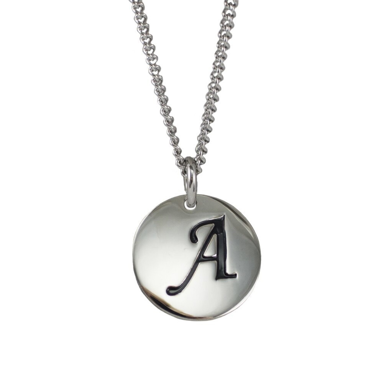 Shields Of Strength Women s Stainless Steel Initial Pendant Necklace-Isaiah  43 1- Front 5d08cd99d