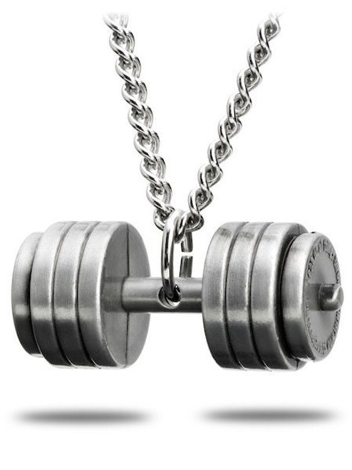 1 set ME VS ME Charm Necklace earrings Fitness Weightlifting  DUMBBELL workout