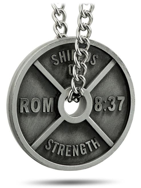 White Athletic Tape-Luke 1:37//Romans 8:37 in Black Shields of Strength