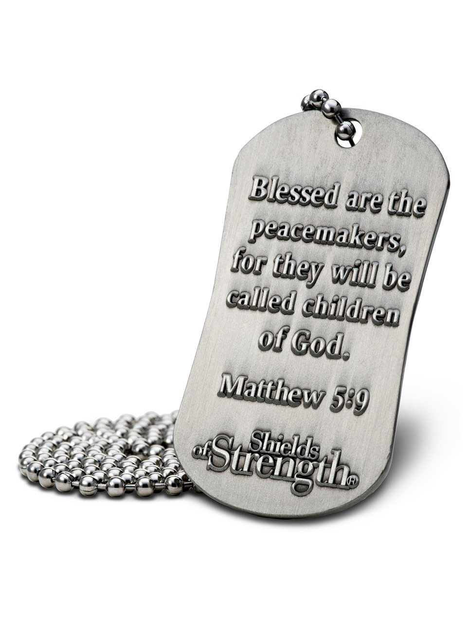 ... Shields of Strength Thin Blue Line Jewelry Law Enforcement Dog Tag  Necklace-Matthew 5  ... 7f58ace75f9