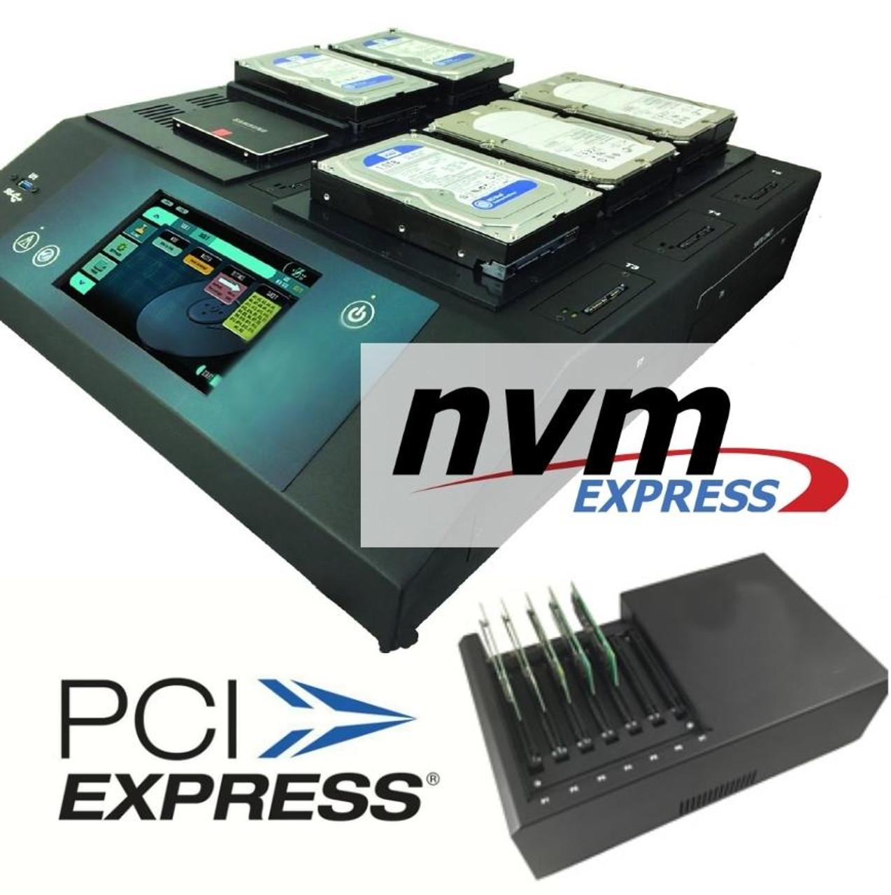 ZCXIPCIE, SAS, SATA Drive Duplicator - Multi-Target Multi-Session, Multi-Protocol