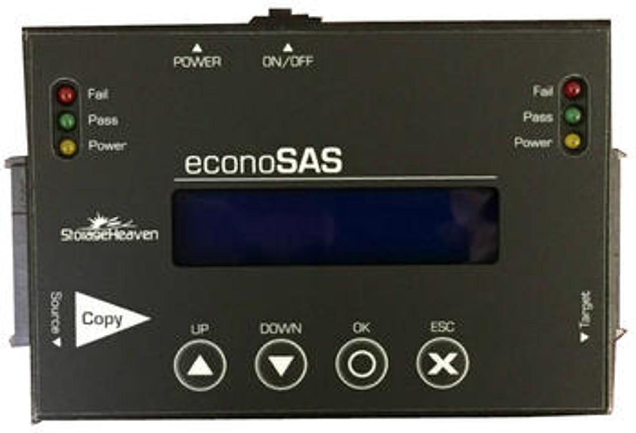 "EconoSAS M.2 SSD SATA, 2.5"" & 3.5"" SAS/SATA/CFast Drive Copier & DoD Eraser"