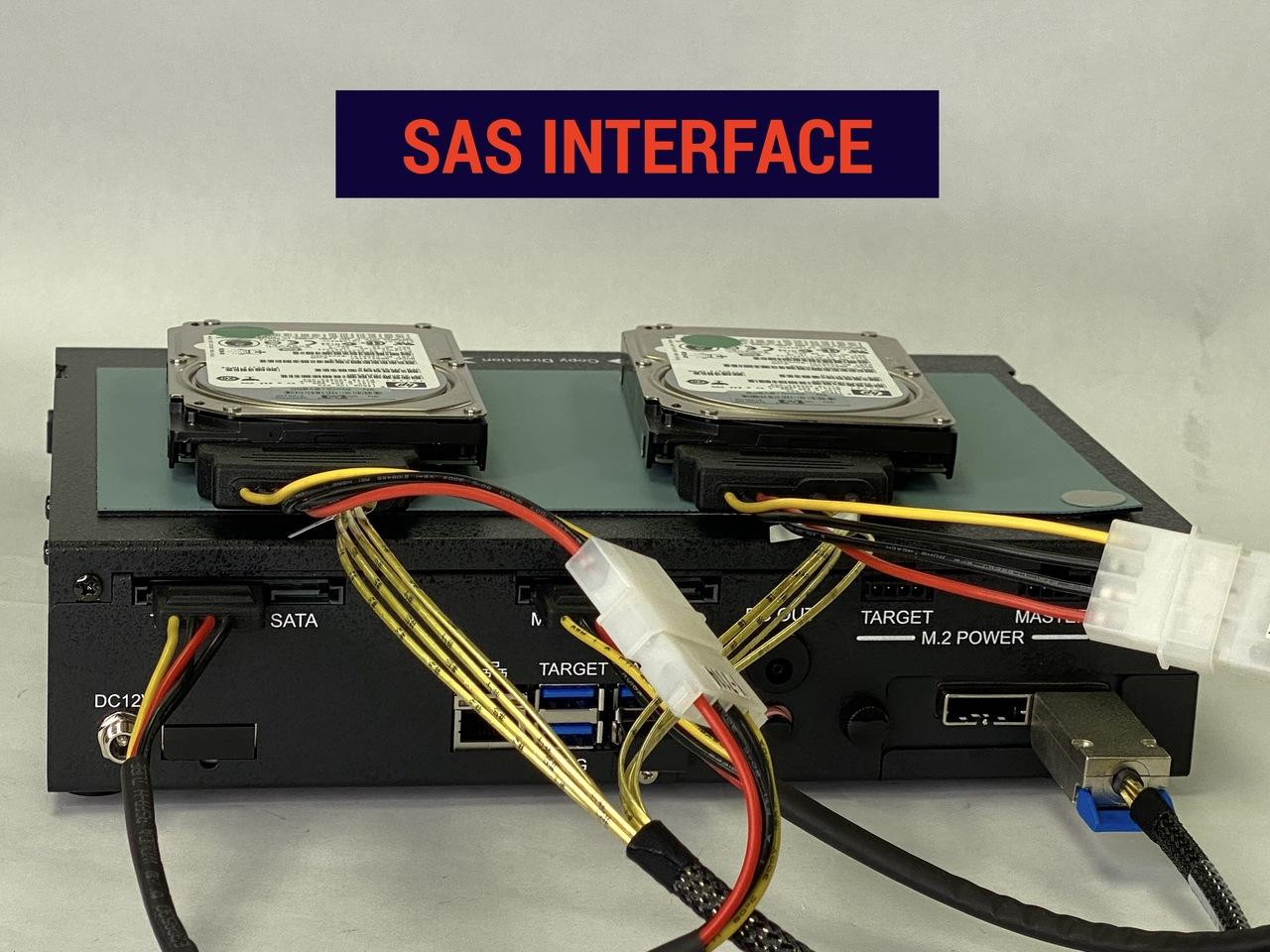 FX2260 with SAS Interface ports at the rear