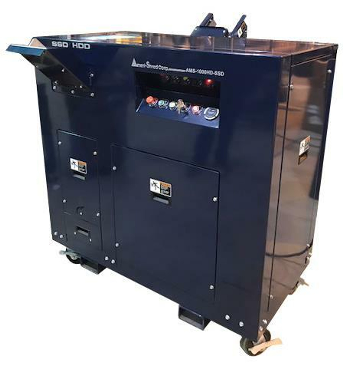 AMS-1000 Hard Drive and  Solid State Drive Shredders