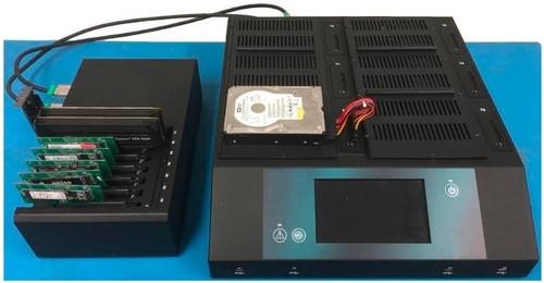 ZCXI:PCIE, SAS, SATA Drive Duplicator - Multi-Target Multi-Session, Multi-Protocol - front facing