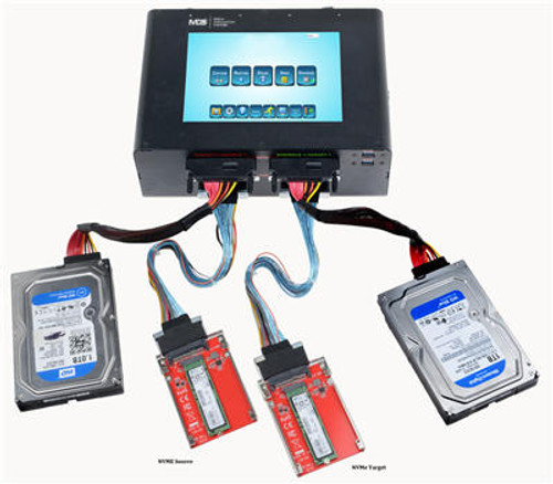 "MSI Plus 8"" Forensic Portable Unit NVMe and SATA mix ports"