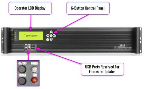 TapeMaster-SA12 Fully Automated 24 Slot LTO Tape Cloning and Migration
