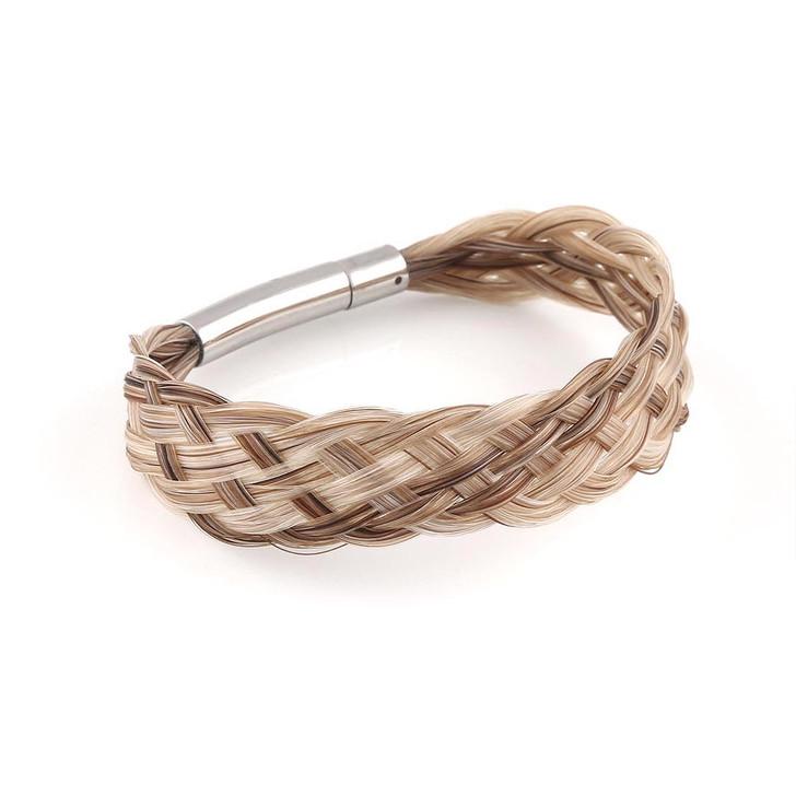 Lace - Wide Flat Weave Horsehair Bracelet