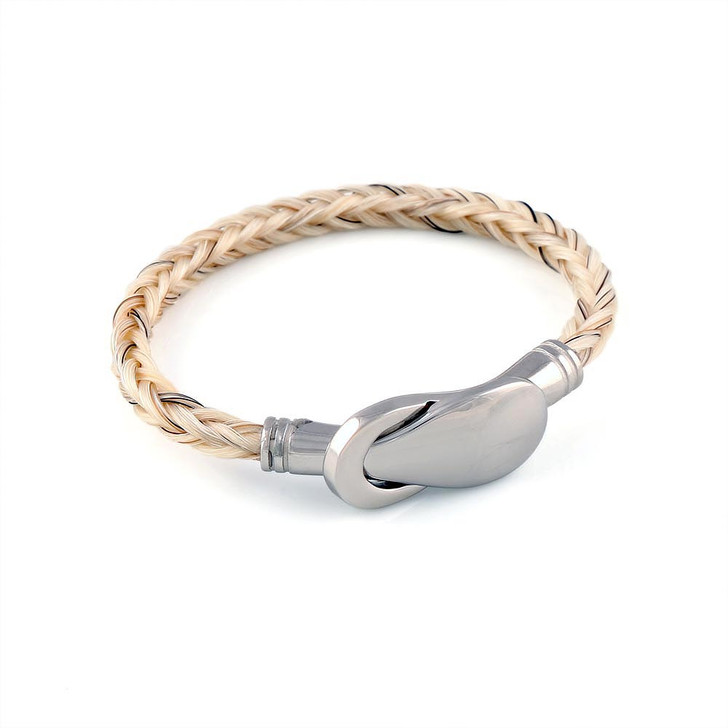 Forget Me Not - A Single Square Horsehair Bracelet