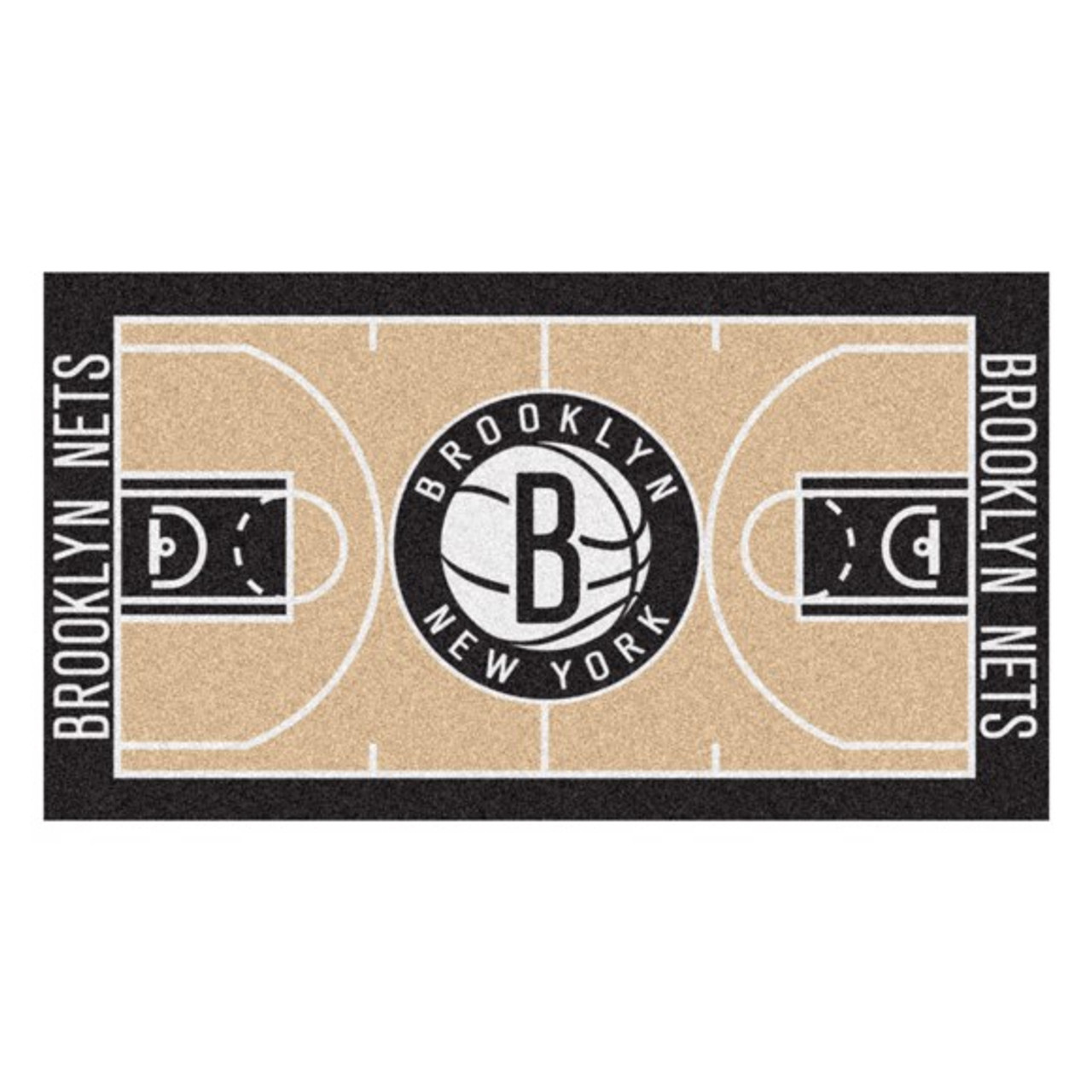 Brooklyn Nets Nba Basketball Court Runner