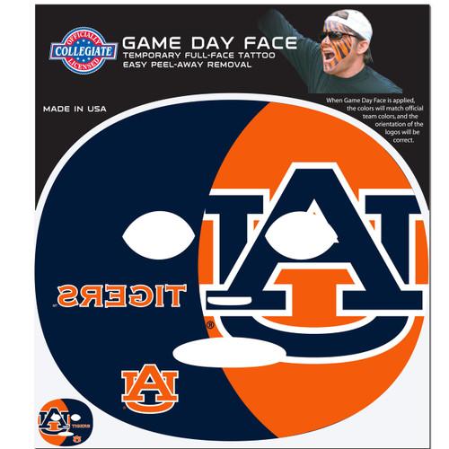 Auburn Tigers Game Face Temporary Tattoo