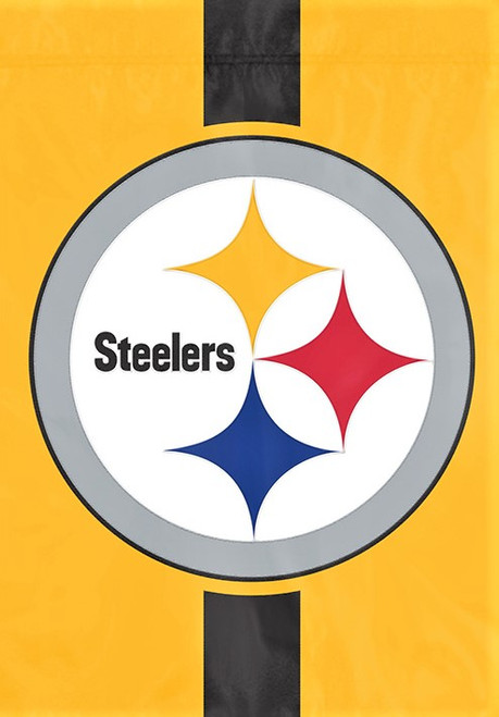 Pittsburgh Steelers Logo Garden Window Flag - Gold