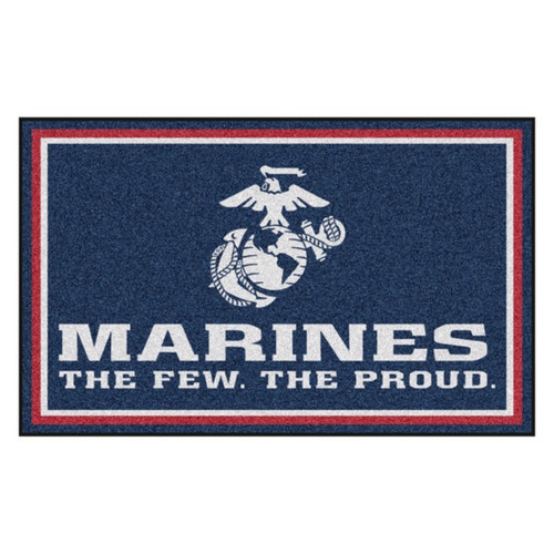 U.S. Marines 4' x 6' Ultra Plush Area Rug