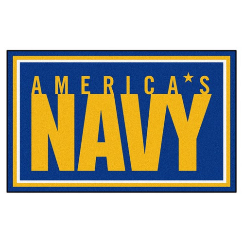 U.S. Navy 4' x 6' Ultra Plush Area Rug - Americas Navy