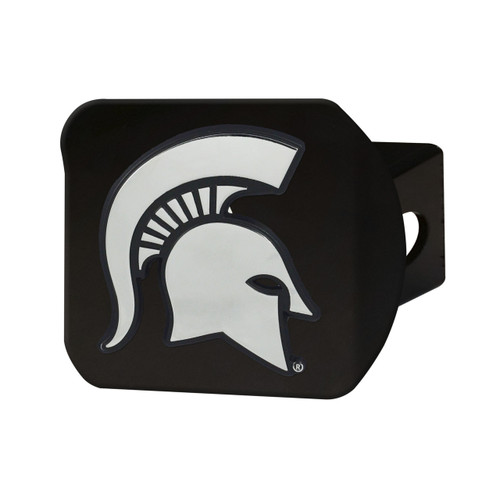 Michigan State Spartans Black Hitch Cover Chrome