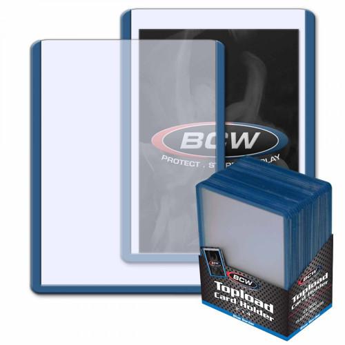 3x4 Topload Card Holder - Blue Border