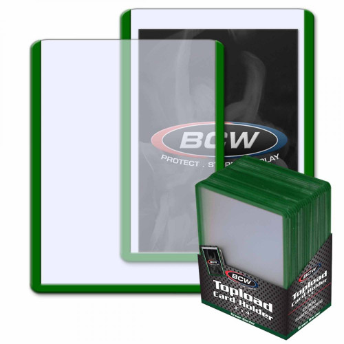 3 x 4 Topload Card Holder - Green Border