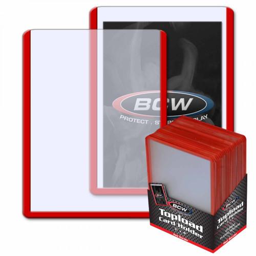 3x4 Topload Card Holder - Red Border