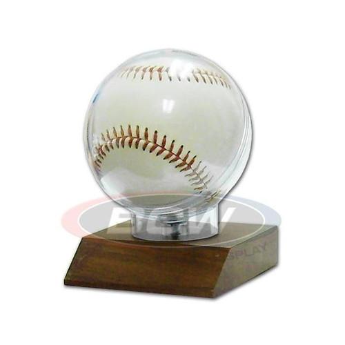 Woodbase Baseball Display Case Holder