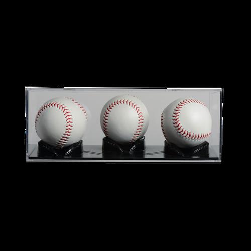 Triple Play 3 Ball Baseball Display Case