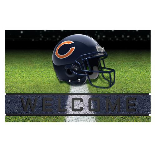 Chicago Bears Crumb Rubber Door Mat Welcome