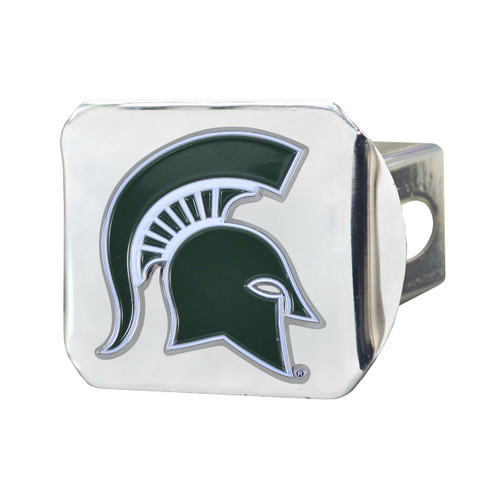 Michigan State Spartans Chrome Hitch Cover - Color